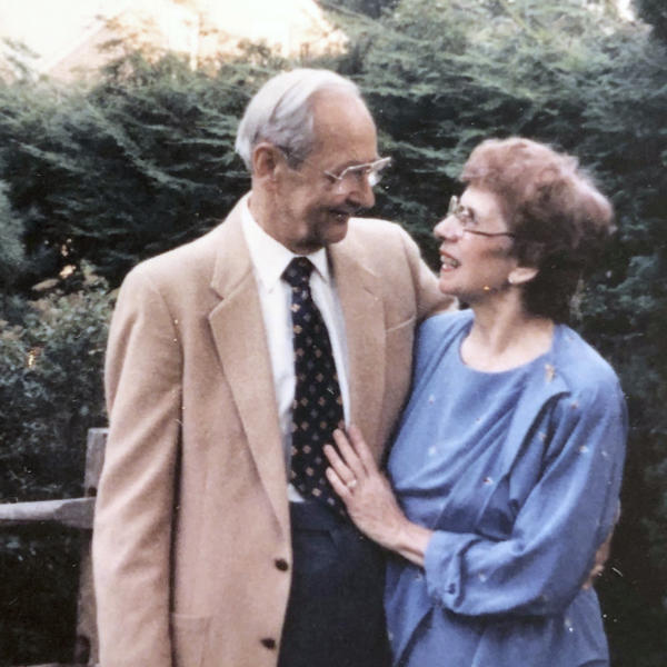 This circa 1984 photo provided by the family shows Phyllis Antonetz and her husband, Alexander. She died of COVID-19 at 103 on April 17, 2020. (Family photo via AP)