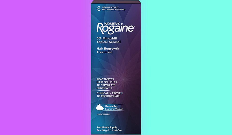 Rogaine might help protect your hair from thinning and hair loss. (Photo: Amazon)