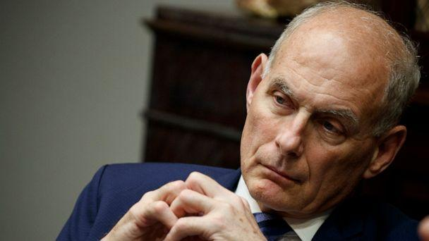 PHOTO: White House chief of staff John Kelly listens as President Donald Trump speaks during a lunch with governors in the Roosevelt Room of the White House in Washington, June 21, 2018. (Evan Vucci/AP, FILE)