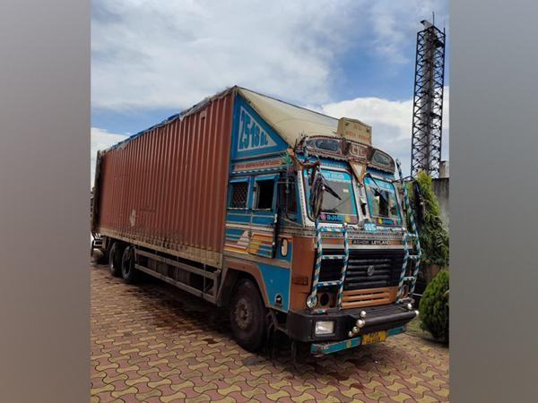 NCB seizes truck with 1344 kgs ganja concealed as scrap. (Photo/ANI)