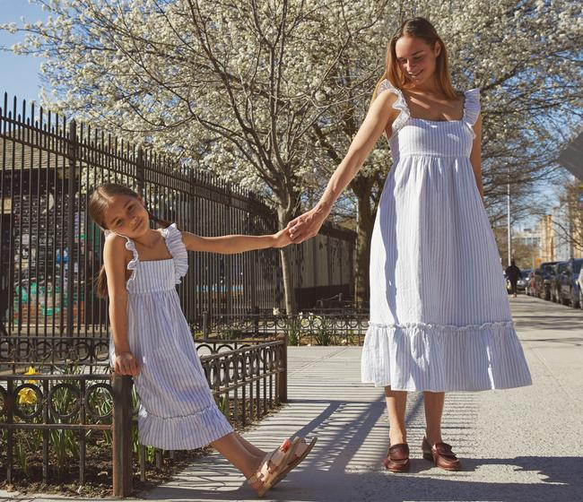 Mommy and me fashion is the cutest way to get dressed for the season. Image via Maisonette.