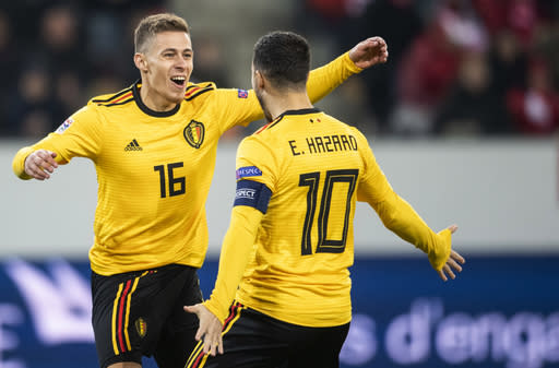 651bd19dff5 Swiss stun Belgium 5-2 to make Final 4 in Nations League