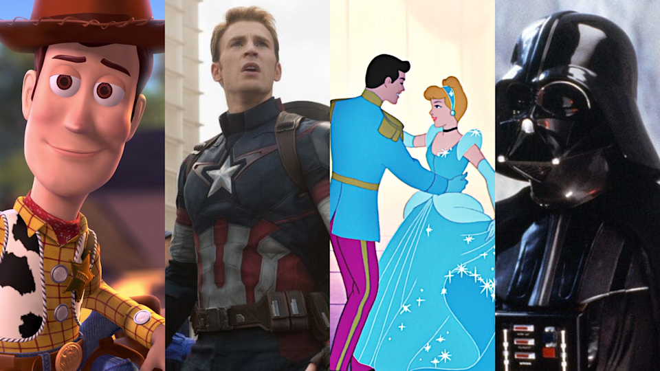 The new streaming service Disney+ is here! You won't believe what it has to offer. (Photo: Pixar Animation Studios/Marvel Studios/Walt Disney Animation Studios/Lucasfilm/Yahoo Lifestyle)