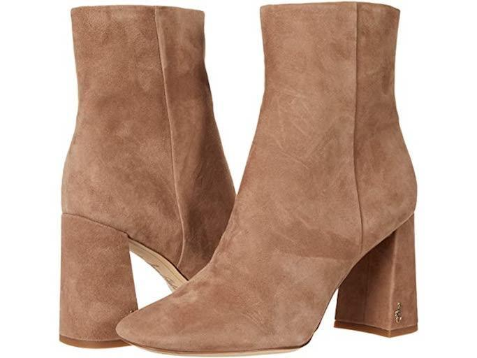 brown boots, square toe, sam edelman