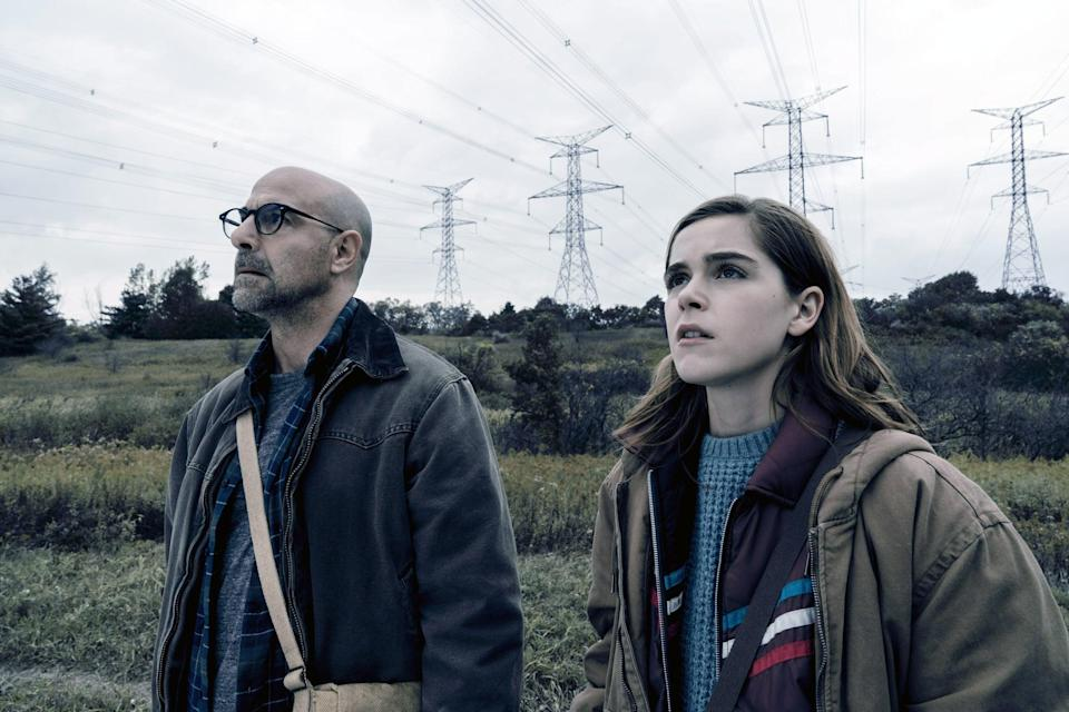 """<p>Released around the same time as <strong>A Quiet Place</strong>, <strong>The Silence</strong> has an incredibly similar plot. When creatures who hunt by sound descend on the Earth, a teen who lost her hearing (Kiernan Shipka) and her family must silently make their way to a refuge beyond the monsters' reach. </p> <p><a href=""""https://www.netflix.com/watch/81021447?trackId=13752290"""" class=""""link rapid-noclick-resp"""" rel=""""nofollow noopener"""" target=""""_blank"""" data-ylk=""""slk:Watch The Silence on Netflix."""">Watch <strong>The Silence</strong> on Netflix.</a></p>"""