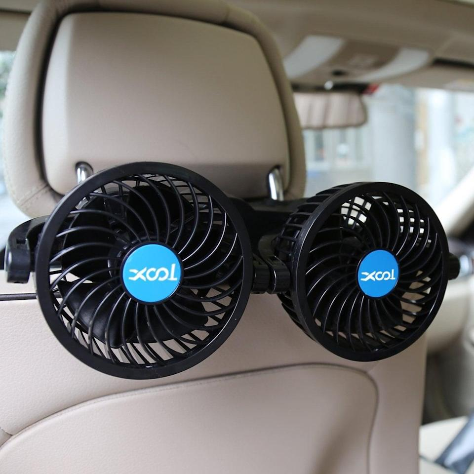 <p>Blow extra air with these brilliant <span>Car Fans For Rear Seats</span> ($40).</p>