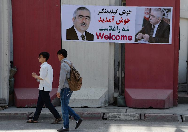 Afghan Vice President Dostum returns after year in Turkey