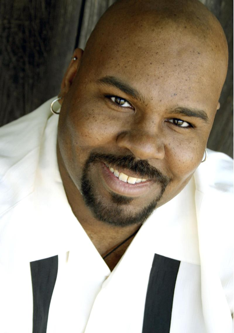 "This undated publicity image provided by Disney Theatrical Productions shows James Monroe Iglehart, who will play the Genie in ""Aladdin,"" on Broadway. The show will feature a 34-member cast, new songs by Alan Menken and magic tricks. It will first be staged in Toronto this November until Jan. 5, before it rides a magic carpet to Broadway's New Amsterdam Theatre. (AP Photo/Disney Theatrical Productions)"