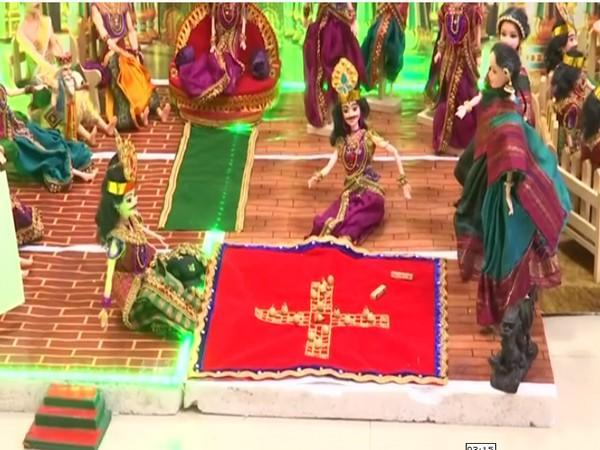 Visual from Dasara Dolls exhibition at a home in Bengaluru (Photo/ANI)