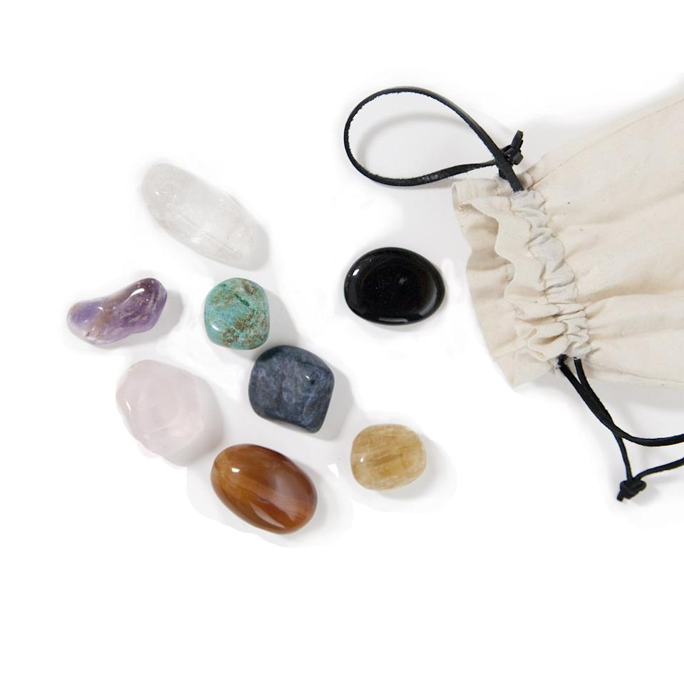"<p>It seems Goop likes crystals! For $85, you get eight crystals and a drawstring bag. The cringe-worthy description really says it all: ""Inspired by the Shaman's medicine bag from various indigenous traditions, this (goop-exclusive) pouch holds magically charged stones."" <i>Magic</i>, you say? </p>"