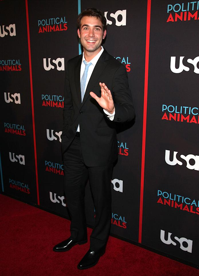 """James Wolk attends the """"Political Animals"""" premiere at The Morgan Library & Museum on June 25, 2012 in New York City."""