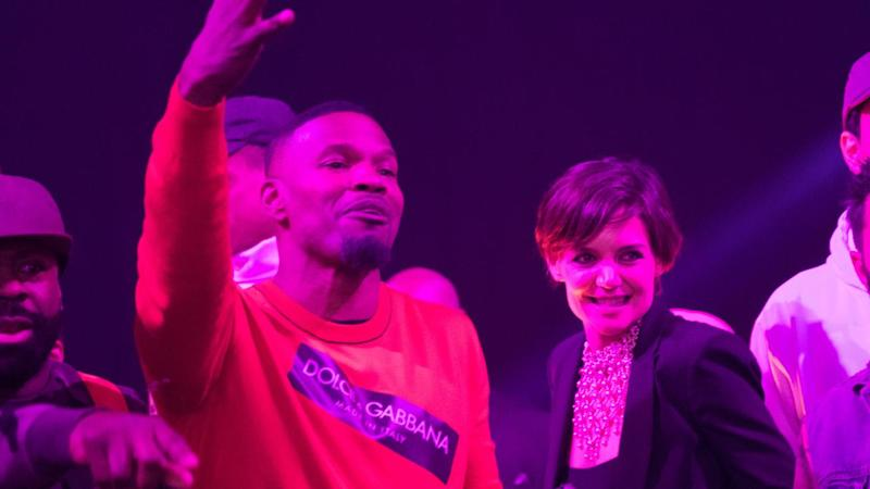 Katie Holmes and Jamie Foxx Get Cozy at the Actor's 50th Birthday Party -- See the Rare Pics!
