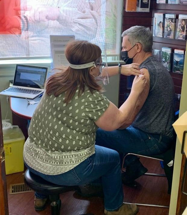 Bryan McLean of Ottawa says it's a relief he and his wife were able to get vaccinated against COVID-19 over the weekend. They drove an hour and a half to a pharmacy in Sharbot Lake. (Submitted by Bryan McLean - image credit)