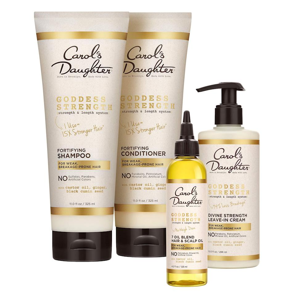 "<br><br><strong>Carol's Daughter</strong> Goddess Strength 4 Piece Hair Care Gift Set, $, available at <a href=""https://amzn.to/3gfN2wP"" rel=""nofollow noopener"" target=""_blank"" data-ylk=""slk:Amazon"" class=""link rapid-noclick-resp"">Amazon</a>"