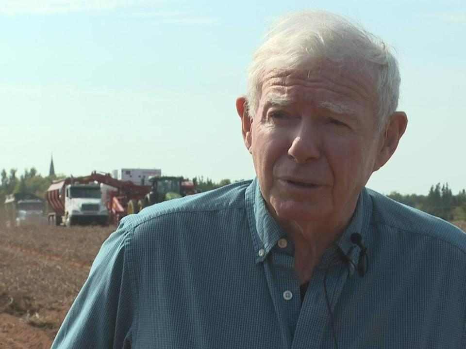 Ray Keenan says his farm is short a few workers amid harvest season. (Brian Higgins/CBC - image credit)