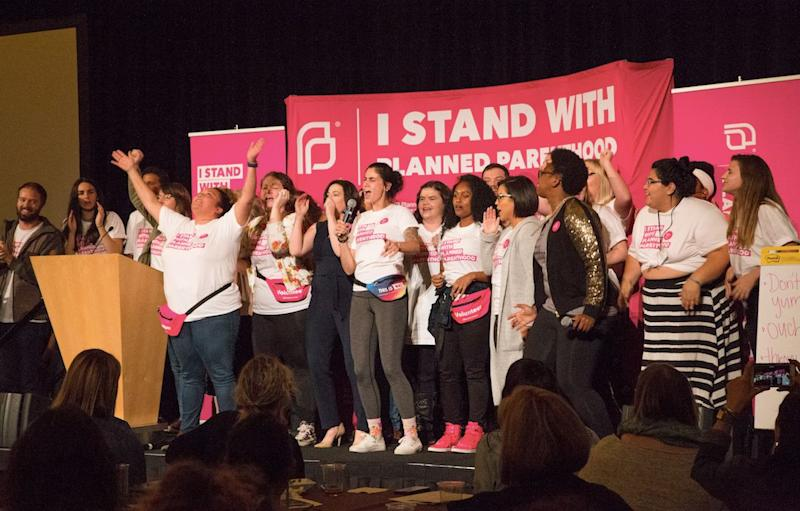 Planned Parenthood organizers kick off the Bellevue summit on Sept. 22, 2017.