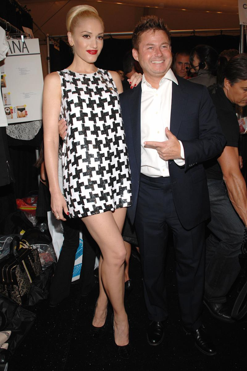 With Tim Schifter at the L.A.M.B. Spring 2008 Collection on Sept. 5, 2007 in New York City, NY.