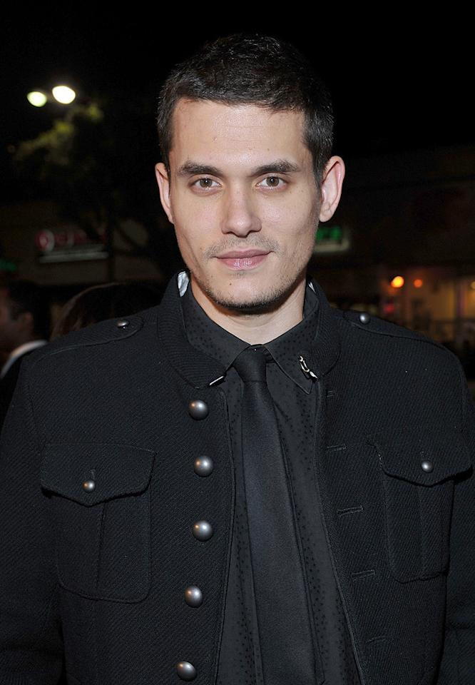"""<a href=""""http://movies.yahoo.com/movie/contributor/1801957615"""">John Mayer</a> at the Los Angeles premiere of <a href=""""http://movies.yahoo.com/movie/1809995057/info"""">Marley & Me</a> - 12/11/2008"""
