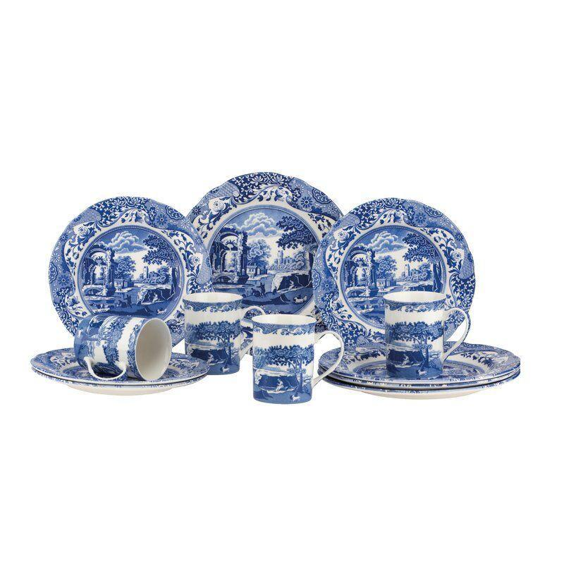 """<p><strong>Spode</strong></p><p>wayfair.com</p><p><a href=""""https://go.redirectingat.com?id=74968X1596630&url=https%3A%2F%2Fwww.wayfair.com%2Fkitchen-tabletop%2Fpdp%2Fspode-blue-italian-12-piece-dinnerware-set-service-for-4-spd1926.html&sref=https%3A%2F%2Fwww.delish.com%2Fkitchen-tools%2Fcookware-reviews%2Fg36277927%2Fway-day-kitchen-deals-2021%2F"""" rel=""""nofollow noopener"""" target=""""_blank"""" data-ylk=""""slk:Shop Now"""" class=""""link rapid-noclick-resp"""">Shop Now</a></p><p><strong><del>$310</del> $87 (72% off)</strong></p><p>Feel free to tell your vaccinated dinner guests that you brought this gorgeous dinnerware from Tuscany. Contents include four earthenware mugs, four plates and four salad dishes. Everything is dishwasher-safe and microwave-safe as well.</p>"""