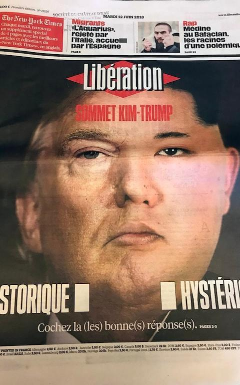 <span>Libération's front page on Tuesday</span>