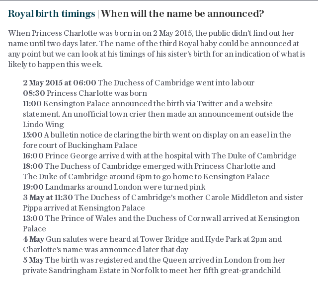 Royal birth timings | When will the name be announced?