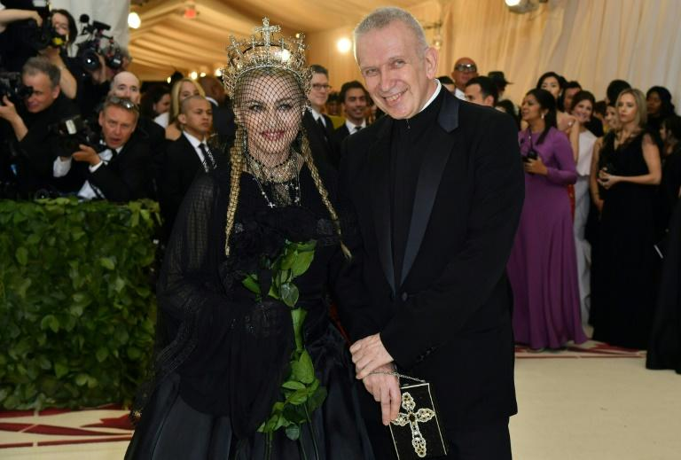 Gaultier made pop history by putting Madonna in a conical bra (AFP Photo/Angela WEISS)