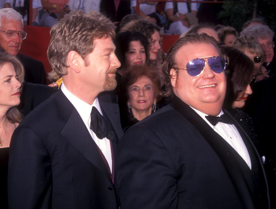 Kenneth Branagh and Chris Farley (Photo by Barry King/WireImage)