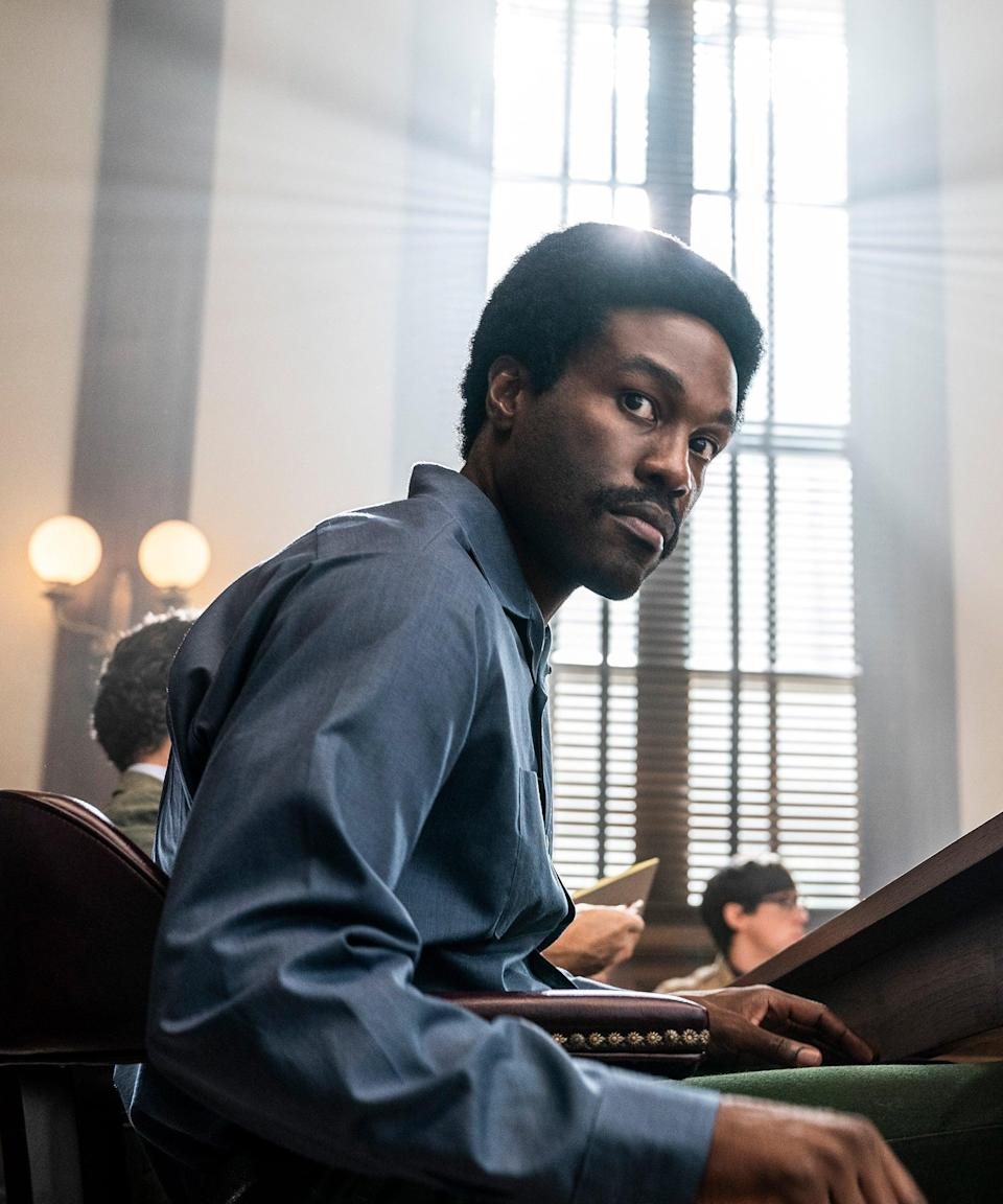 """<h2>As portrayed by Yahya Abdul-Mateen II</h2><br>Yahya Abdul-Mateen II made waves (and several points) with his role as a slick-talking disco prince in Netflix's <em>The Get Down</em>, but it was his <a href=""""https://www.refinery29.com/en-us/2019/12/8988025/who-plays-doctor-manhattan-watchmen-hbo"""" rel=""""nofollow noopener"""" target=""""_blank"""" data-ylk=""""slk:lead role in the HBO limited series"""" class=""""link rapid-noclick-resp"""">lead role in the HBO limited series </a><em><a href=""""https://www.refinery29.com/en-us/2019/12/8988025/who-plays-doctor-manhattan-watchmen-hbo"""" rel=""""nofollow noopener"""" target=""""_blank"""" data-ylk=""""slk:Watchmen"""" class=""""link rapid-noclick-resp"""">Watchmen</a></em> that put really put him on the map and <a href=""""https://www.refinery29.com/en-us/2020/09/10037618/yahya-abdul-mateen-ii-emmy-speech-black-women"""" rel=""""nofollow noopener"""" target=""""_blank"""" data-ylk=""""slk:earned him his very first Emmy"""" class=""""link rapid-noclick-resp"""">earned him his very first Emmy</a>.<span class=""""copyright"""">Photo: Courtesy of Netflix.</span>"""
