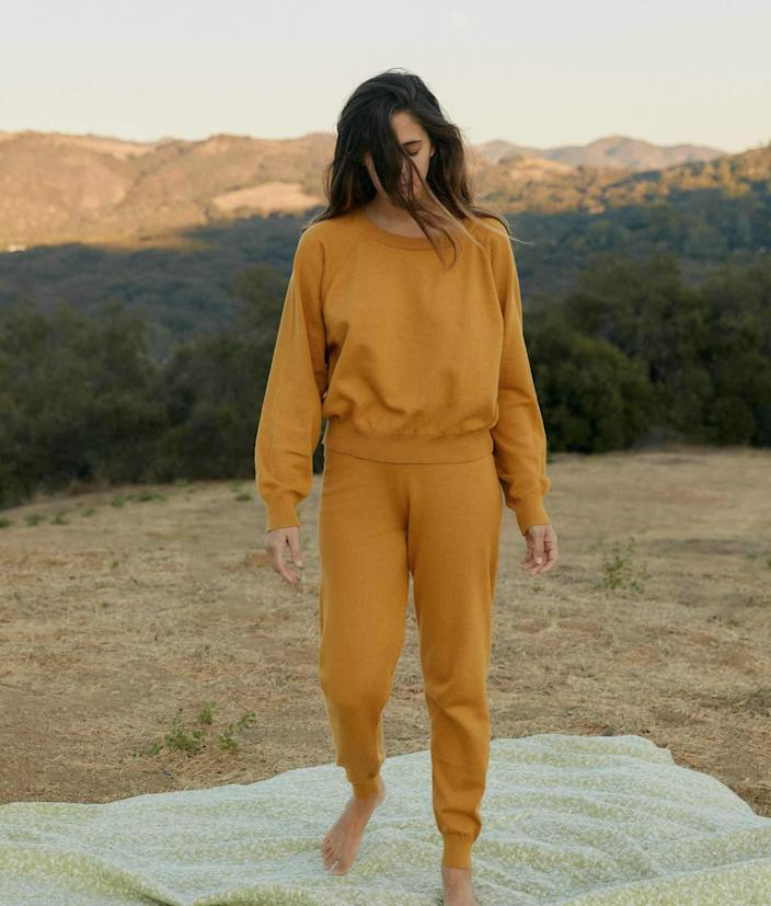 """Can you ever have enough chic sweatpants while in the middle of a global pandemic? Not really, and Christy Dawn's ethically sewn sets are available for 30% off with code LOVE30 at checkout—along with everything else on the L.A.-based brand's site (nap dresses, trousers, sweaters, and more). $108, Christy Dawn. <a href=""""https://christydawn.com/collections/all/products/the-sonny-pant-mustard"""" rel=""""nofollow noopener"""" target=""""_blank"""" data-ylk=""""slk:Get it now!"""" class=""""link rapid-noclick-resp"""">Get it now!</a>"""