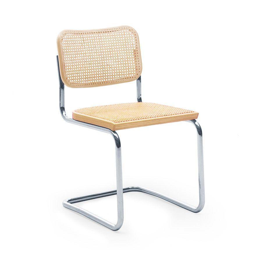 "<p><strong>Knoll</strong></p><p>Knoll</p><p><strong>$931.00</strong></p><p><a href=""https://www.knoll.com/product/cesca-chair-armless?gclid=Cj0KCQiAhs79BRD0ARIsAC6XpaUUKojWFxlGquuO7woKtXacOVb2cbxP-uCqRvWJ4UpAUrf5zrel1ZUaAijgEALw_wcB"" rel=""nofollow noopener"" target=""_blank"" data-ylk=""slk:Shop Now"" class=""link rapid-noclick-resp"">Shop Now</a></p><p>The famous Cesca Chair from Knoll, originally designed by Marcel Breuer in 1928 of tubular steel and cane, marries industrial processes with natural materials. </p>"