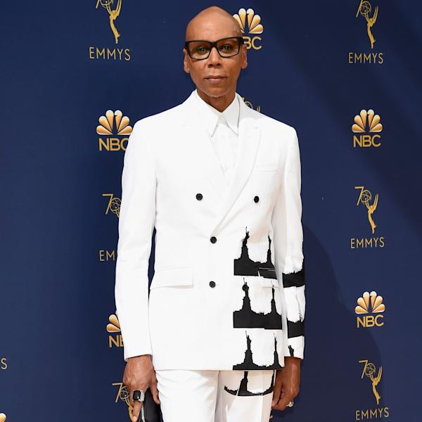 The incredible RuPaul, host of The Drag Race stepped out on the Emmy Awards red carpet in Calvin Klein 205W39NYC.