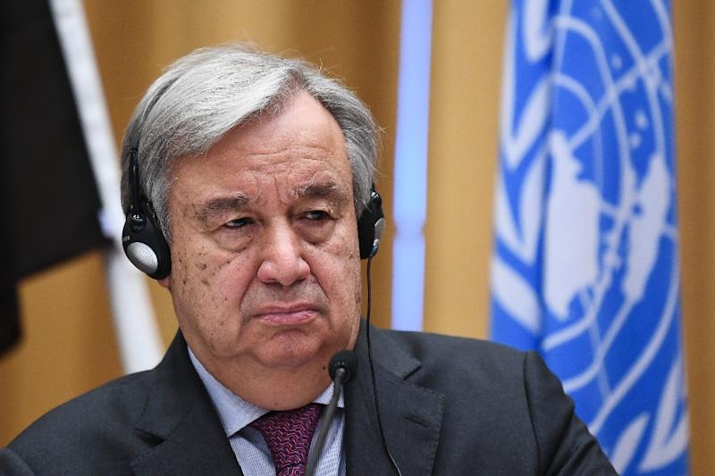 Guterres said the chief concern was 'the suffering of the people of Venezuela'