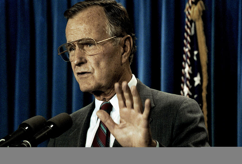 President George H.W. Bush insisted on a delay in loan guarantees to Israel until after a multilateral peace summit in Madrid, Spain, in October 1991.