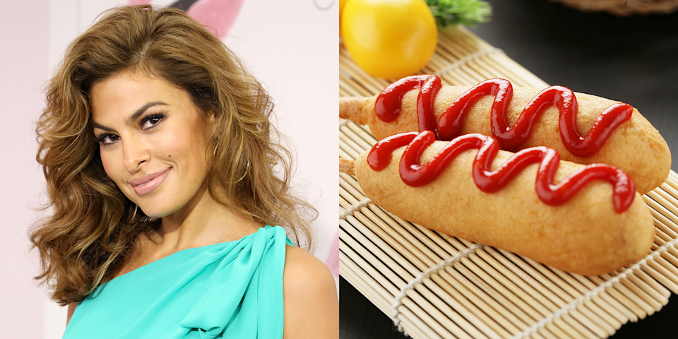 <p>Hot Dog on a Stick is a restaurant that sells hot dogs on sticks, as you may have guessed, but could you have guessed that Eva Mendes once worked there? She served up the delicacies at a mall in Glendale, California. </p>