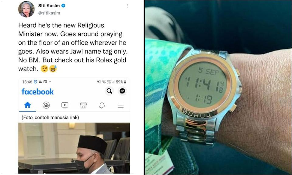 Minister to Siti Kassim: Timepiece not a Rolex, has built-in prayer reminder