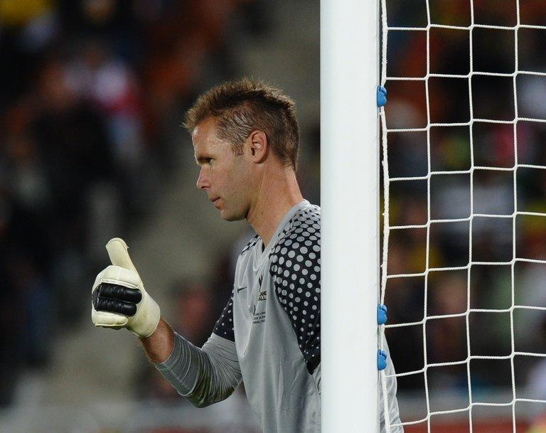 New Zealand's goalkeeper Mark Paston, pictured during a football match in Polokwane, South Africa, on June 24, 2010