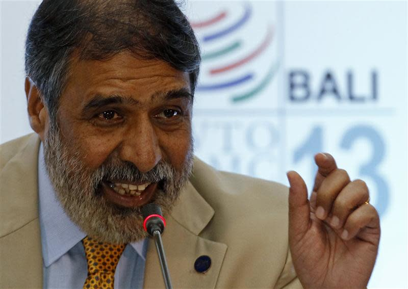India's trade minister Sharma speaks during a news conference at the ninth WTO Ministerial Conference in Nusa Dua