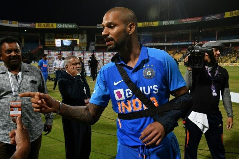 Shikhar Dhawan picked up his injury during the victorious third ODI with Australia
