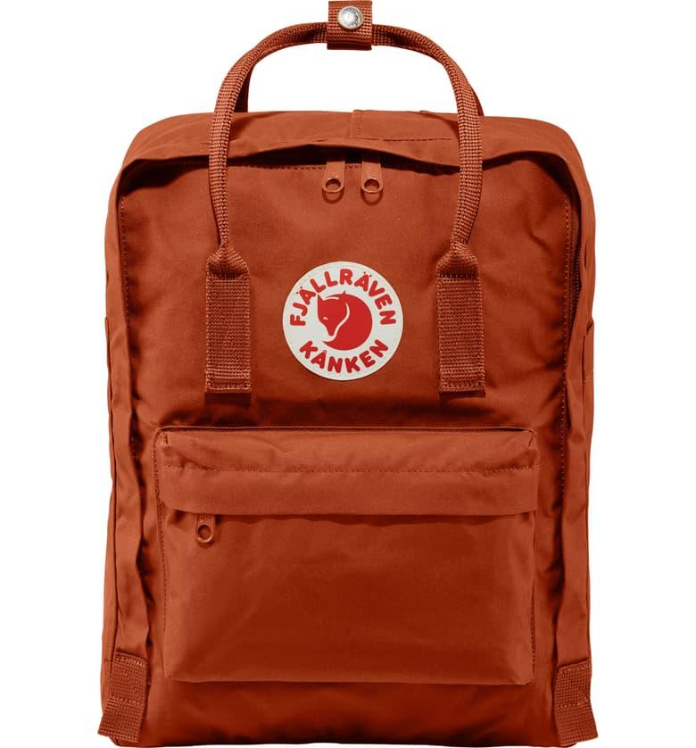 Fjällräven Kånken Water Resistant Backpack in autumn leaf