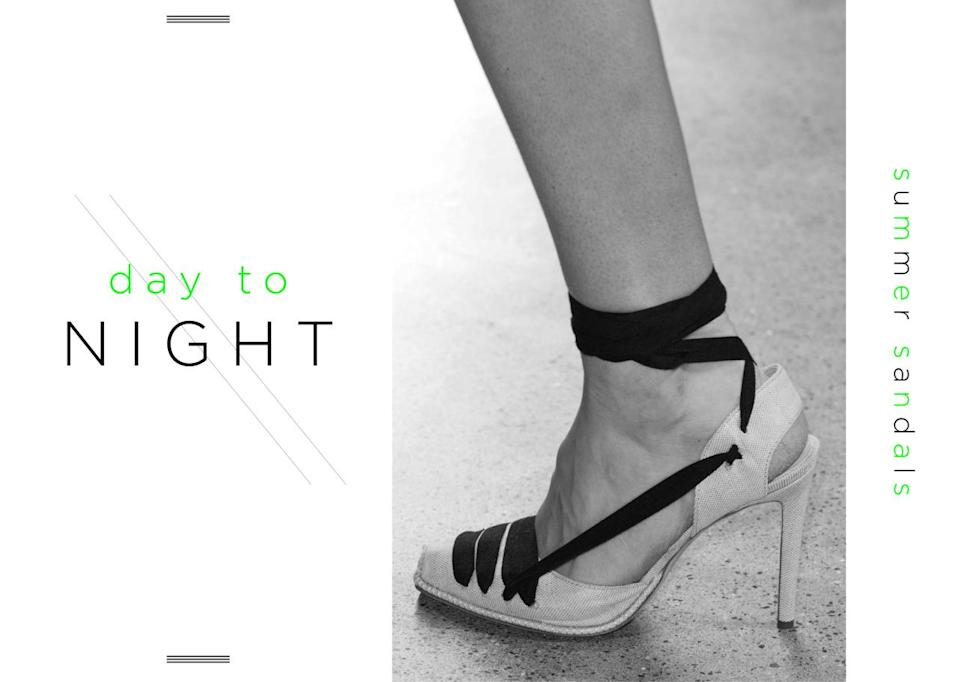 <p>The key to finding the right shoes from day to night in the summer? Look for an open toe and a solid heel. That way, they're casual enough for a fun summer's night, but professional enough for the office. And thanks to the blocky-heel trend, they're also comfortable enough to take you 'til sunset or sunrise! </p>