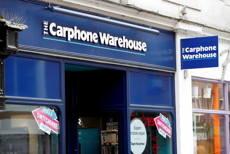 FILE PHOTO: A Carphone Warhouse store in Windsor is pictured after they announced 2,900 job losses