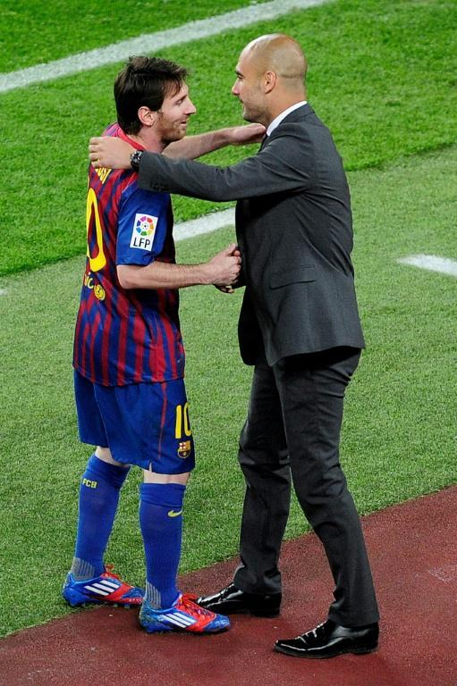 Messi and Guardiola together in 2012 (AFP/Josep LAGO)