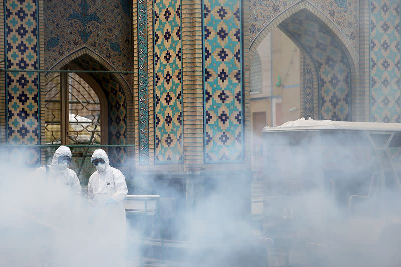 Fear, distrust and disinfectant in the air amid Iran's coronavirus outbreak