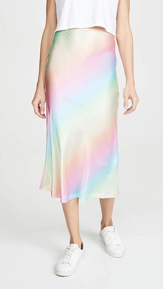 """<p>I'll let this <a href=""""https://www.popsugar.com/buy/Lioness-Ombre-Skirt-544706?p_name=Lioness%20Ombre%20Skirt&retailer=amazon.com&pid=544706&price=78&evar1=fab%3Aus&evar9=47160084&evar98=https%3A%2F%2Fwww.popsugar.com%2Ffashion%2Fphoto-gallery%2F47160084%2Fimage%2F47160382%2FLioness-Ombre-Skirt&list1=shopping%2Camazon%2Ceditors%20pick%2Cwinter%20fashion&prop13=api&pdata=1"""" rel=""""nofollow"""" data-shoppable-link=""""1"""" target=""""_blank"""" class=""""ga-track"""" data-ga-category=""""Related"""" data-ga-label=""""https://www.amazon.com/Lioness-Womens-Ombre-Skirt-Stripe/dp/B081Z8CL6S?s=shopbop&amp;ref_=sb_ts&amp;th=1&amp;psc=1"""" data-ga-action=""""In-Line Links"""">Lioness Ombre Skirt</a> ($78) speak for itself by pairing it with a white tee and sneakers.</p>"""
