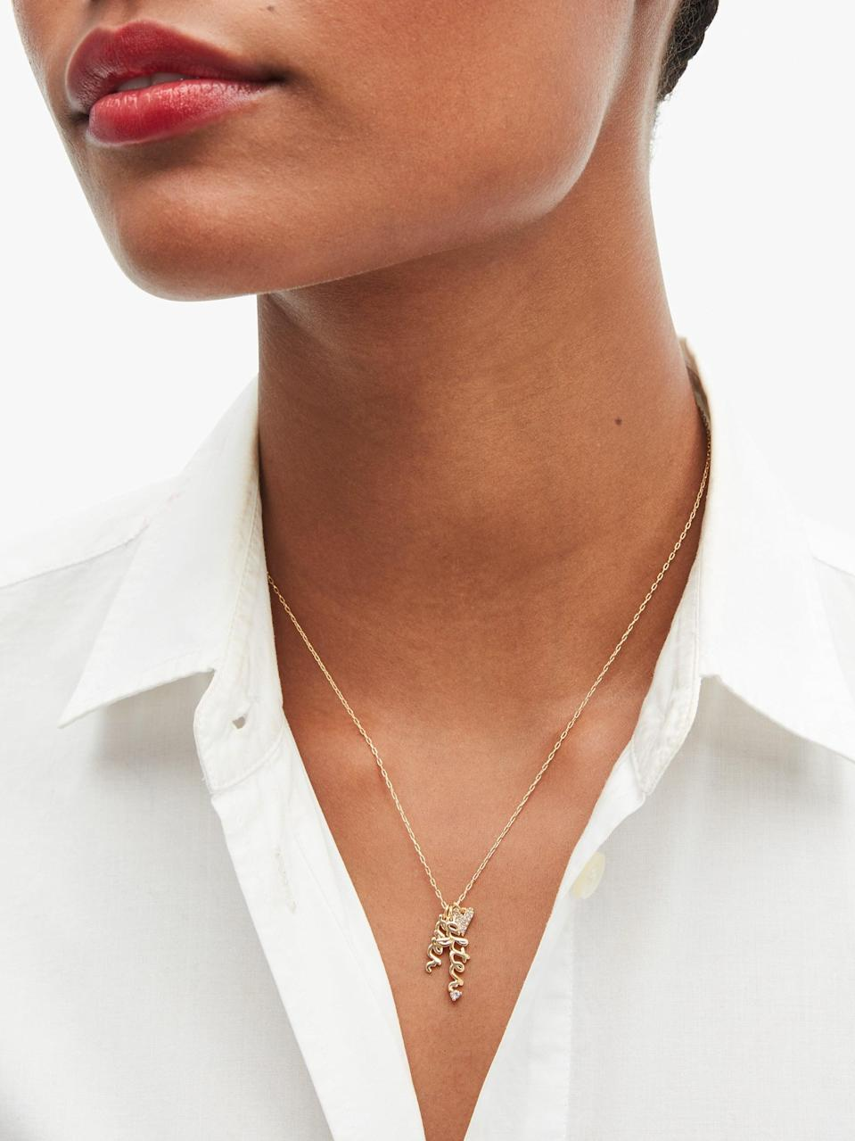 <p>This <span>Kate Spade New York Say Yes Ever After Charm Necklace</span> ($68) pays homage to a storybook romance.</p>