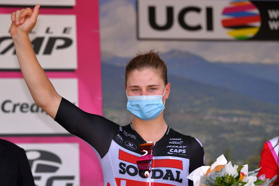 Lotte Kopecky (Lotto Soudal) third on stage 6 at the Giro Rosa