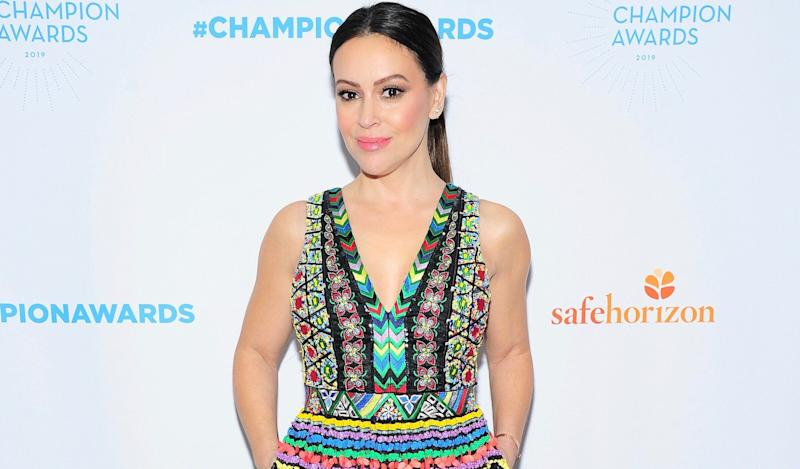 Alyssa Milano, pictured April 9 at Safe Horizon's Champion Awards, opens up about a second sexual assault, which took place on a shoot when she was 24. (Photo: Owen Hoffmann/Patrick McMullan via Getty Images)