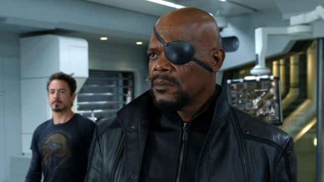 Samuel L. Jackson as Nick Fury in 'The Avengers'. (Credit: Disney/Marvel)