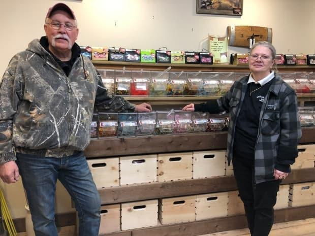 Lionel and Judy Harder, owners of Wrangling River Supply in Inuvik, N.W.T., first started their company in 1992. After 32 years in Inuvik, the pair are closing up shop and moving to Whitehorse. (Mackenzie Scott/CBC - image credit)