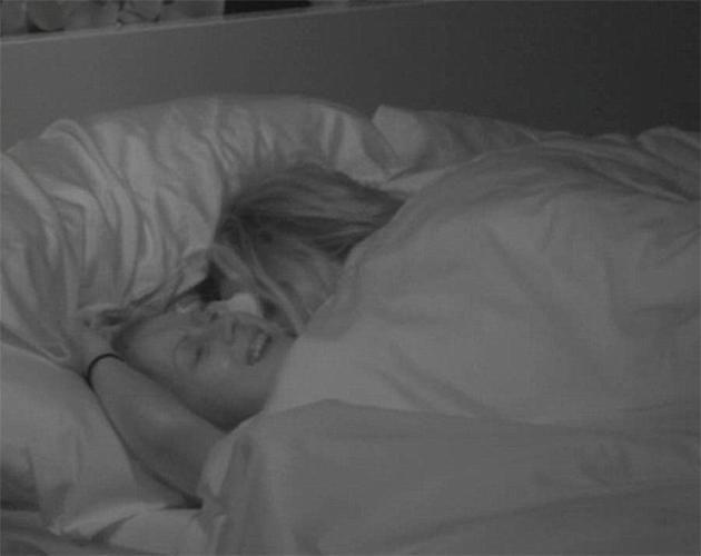 Laura and Marco in bed together. Photo: Channel 5
